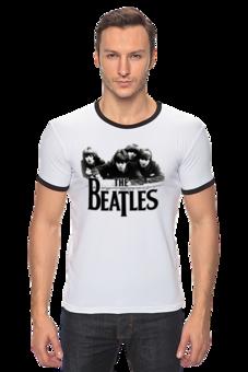 """Футболка """"Рингер"""" (Мужская) """"the beatles white"""" - авторские майки, футболка, мужская, в подарок, оригинально, парню, выделись из толпы"""