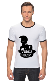 "Футболка Рингер ""vodka is magic"" - pony, пони, magic, zecora, vodka, водка, зекора, магия"