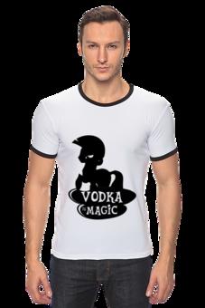 "Футболка ""Рингер"" (Мужская) ""vodka is magic"" - pony, пони, magic, zecora, vodka, водка, зекора, магия"