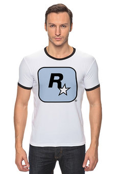 "Футболка ""Рингер"" (Мужская) ""I'M Rockstar"" - авторские майки, футболка, мужская, футболка мужская, grand theft auto, gta, rockstar, гта, рокстар, rockstar games"