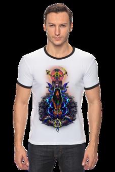"Футболка Рингер ""Легенды майя"" - оригинально, авторские майки, креативно, парню"