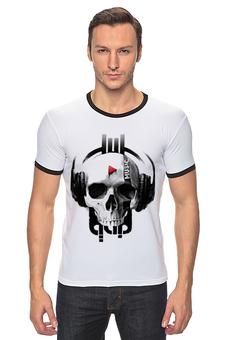 """Футболка """"Рингер"""" (Мужская) """"Music forever"""" - прикольно, авторские майки, футболка, стиль, рисунок, прикольные, оригинально, футболка мужская, парню, креативно"""