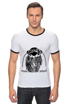"""Футболка Рингер """"упырь лютый"""" - мужские футболки, прикольные футболки, футболки с надписями, футболки с рисунком, купить мужскую футболку"""