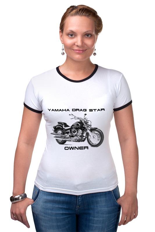Футболка Рингер Printio Yamaha drag star yamaha dbr15