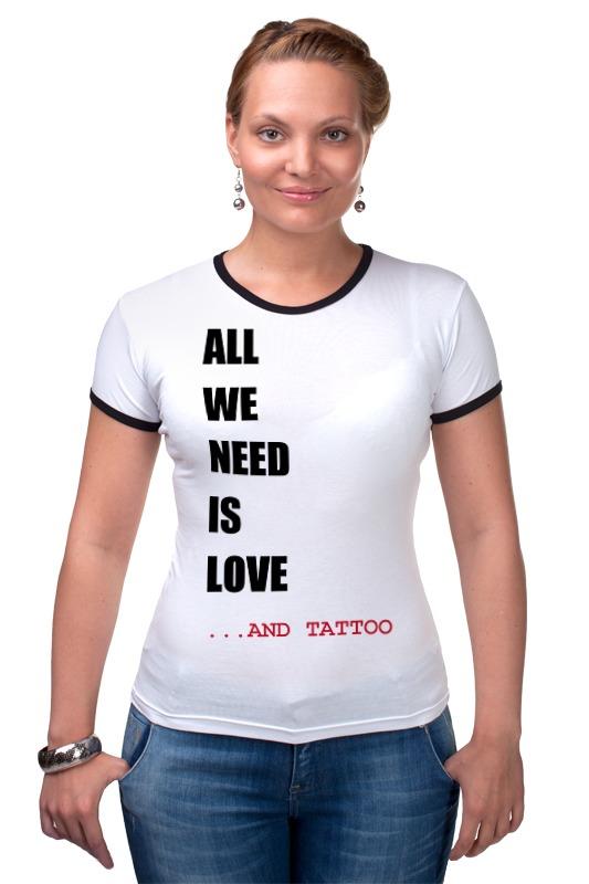 Футболка Рингер Printio All we need is love m футболка стрэйч printio all we need is love m