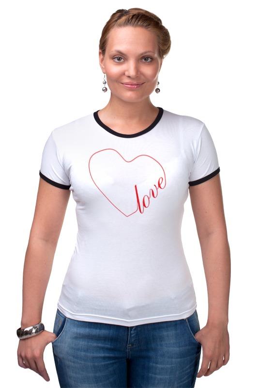 Футболка Рингер Printio Сердце (love) футболка рингер printio война никогда не меняется