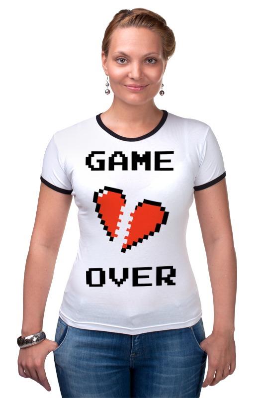 Футболка Рингер Printio Game over (игра окончена) r12 sexy game