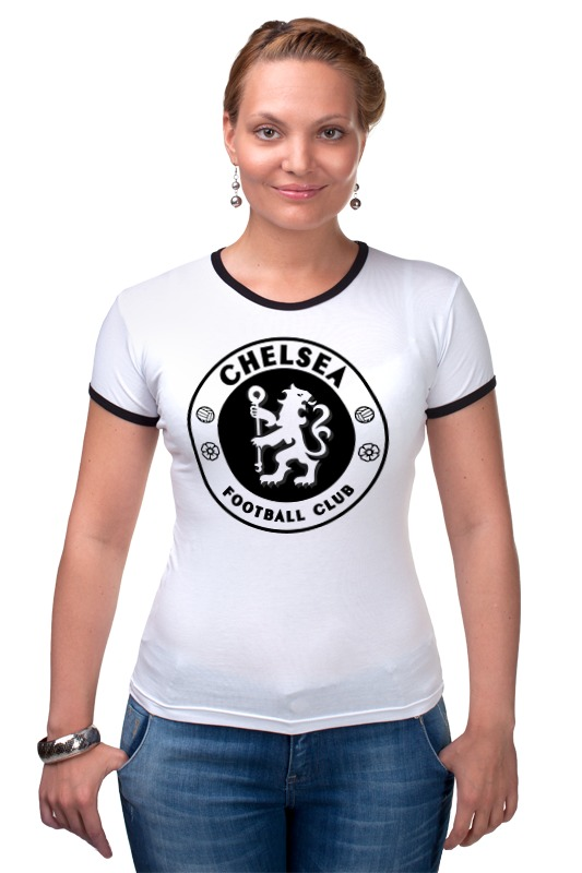 Футболка Рингер Printio Chelsea (челси) майка классическая printio челси