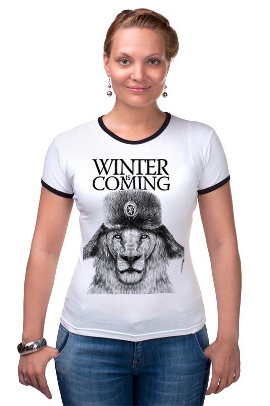 Футболка Рингер Printio Winter is coming футболка рингер printio война никогда не меняется