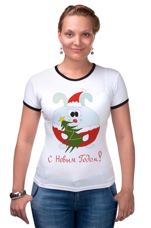 Футболка Рингер Printio Новогодний заяц футболка для беременных printio новогодний лось