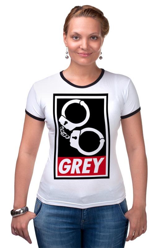 Футболка Рингер Printio 50 оттенков серого (fifty shades of grey) майка классическая printio 50 оттенков серого fifty shades of grey