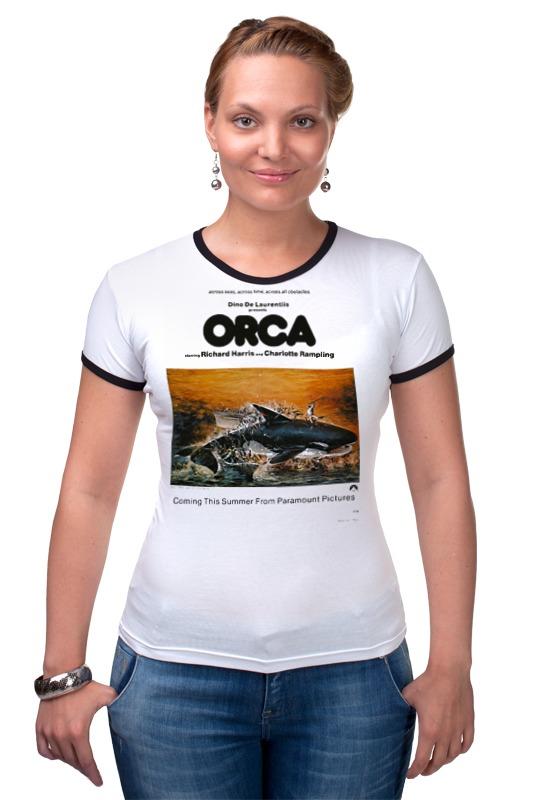 Футболка Рингер Printio Смерть среди айсбергов / orca killer whale killer whale print pillow cover