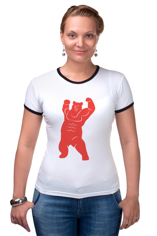 Футболка Рингер Printio Russian bear футболка рингер printio война никогда не меняется