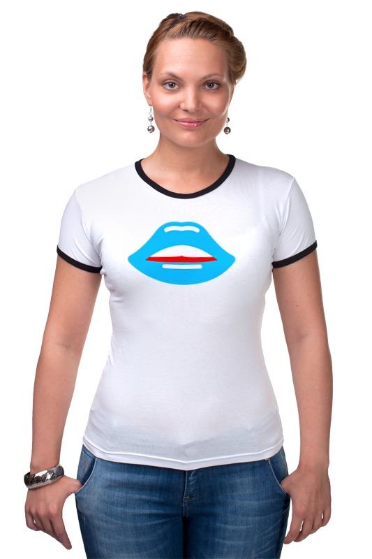 Футболка Рингер Printio Губы (поцелуй) футболка рингер printio поцелуй