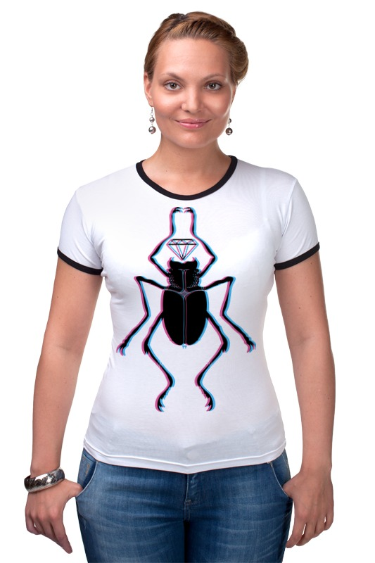 Футболка Рингер Printio Жук и алмаз футболка классическая printio вольскваген жук