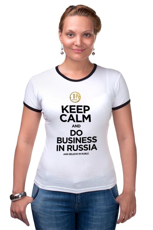Футболка Рингер Printio Keep calm by kkaravaev.ru футболка wearcraft premium printio keep calm