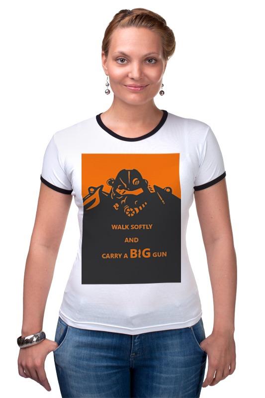 Футболка Рингер Printio Fallout - big gun футболка классическая printio fallout фэллаут