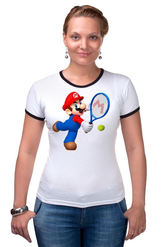 Футболка Рингер Printio Super mario tennis mario tennis open
