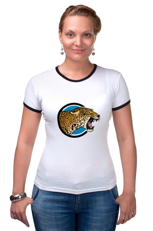 Футболка Рингер Printio Ягуар футболка wearcraft premium printio ягуар хк 120