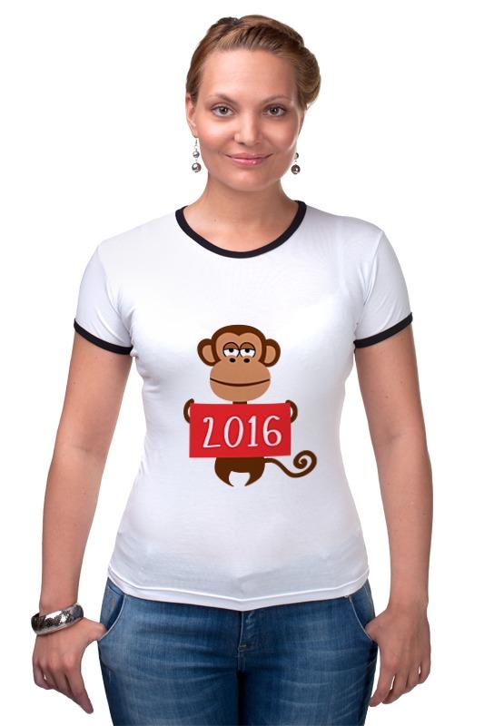 Футболка Рингер Printio Год обезьяны  2016 футболка рингер printio обезьяны