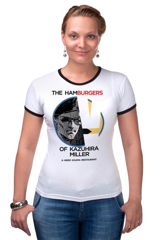 Футболка Рингер Printio The hamburgers of kazuhira miller майка классическая printio the hamburgers of kazuhira miller