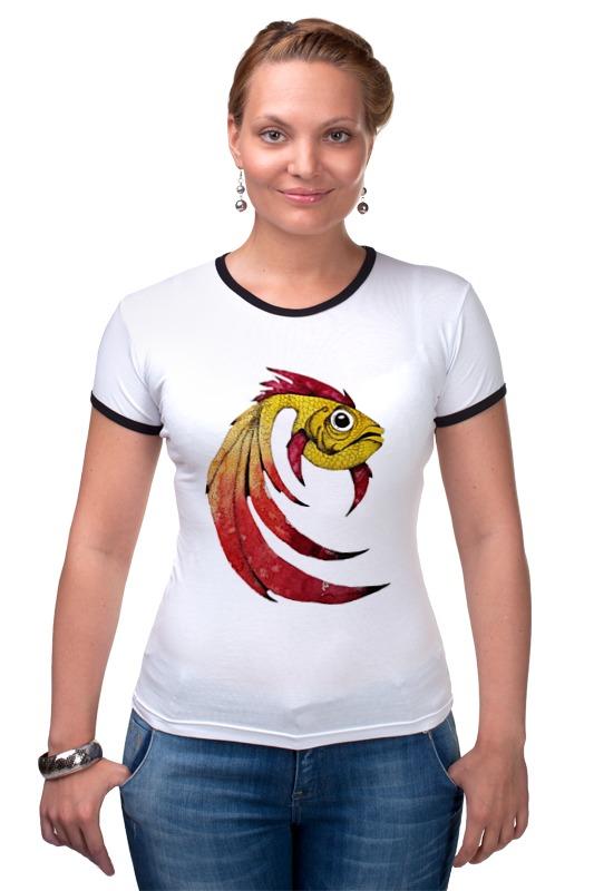 Футболка Рингер Printio Золотая рыбка футболка рингер printio золотая рыбка