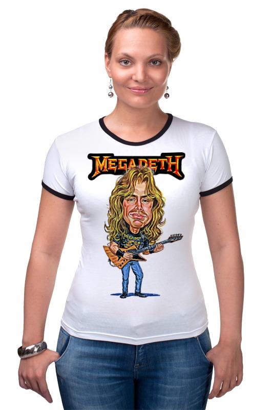 Футболка Рингер Printio Megadeth megadeth stockholm