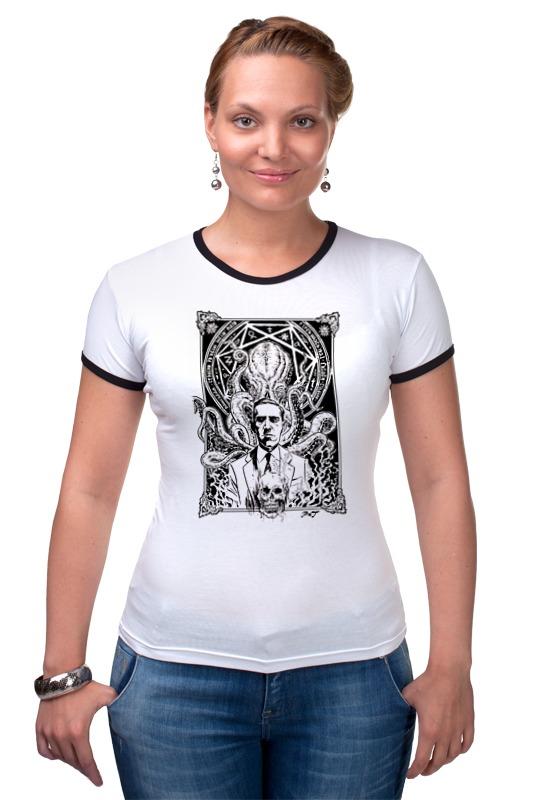 Футболка Рингер Printio Howard lovecraft t-shirt футболка community adidas t shirt judo сине белая m adictj