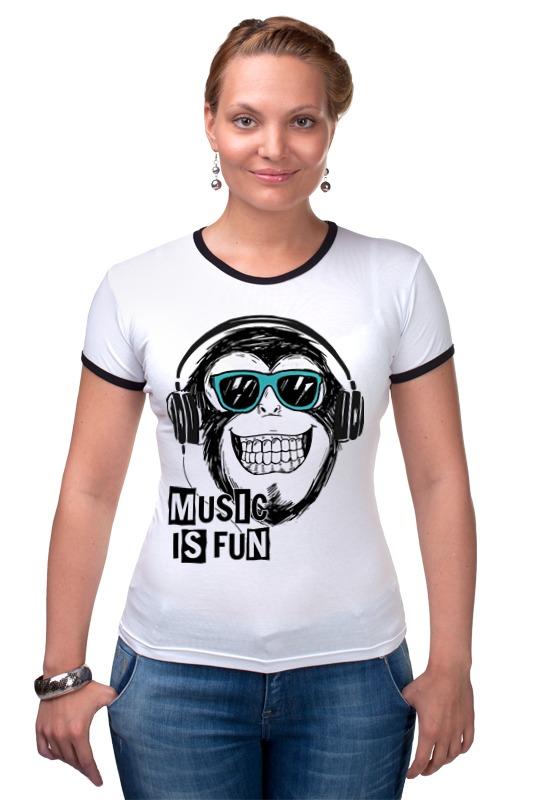 Футболка Рингер Printio Music is fun футболка рингер printio обезьяны