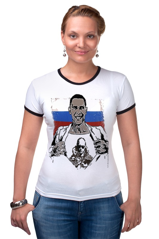 Футболка Рингер Printio Russia