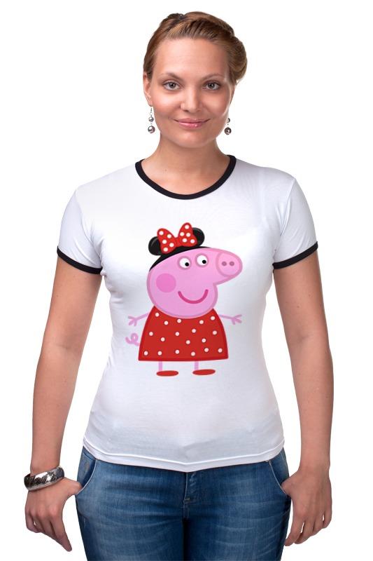 Футболка Рингер Printio Peppa pig свинка пеппа посуды королевское чаепитие peppa pig