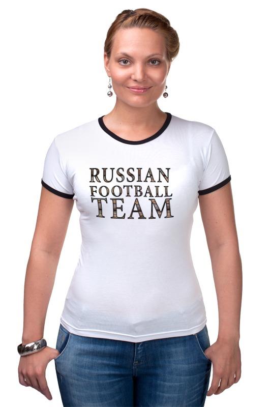 все цены на Футболка Рингер Printio Russian football team онлайн