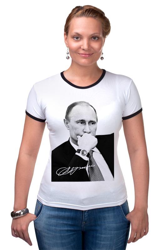 Футболка Рингер Printio Владимир путин by hearts of russia лонгслив printio made in russia by hearts of russia