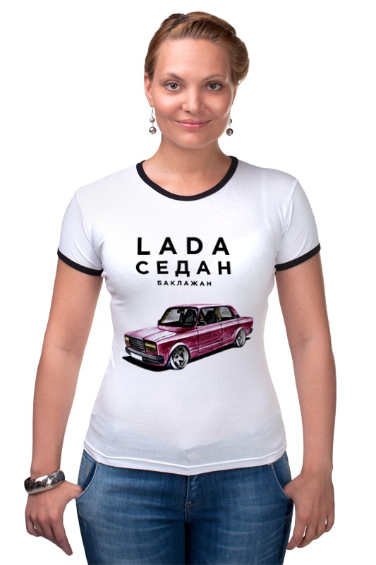 Футболка Рингер Printio Lada седан by design ministry футболка рингер printio spb t shirt by design ministry