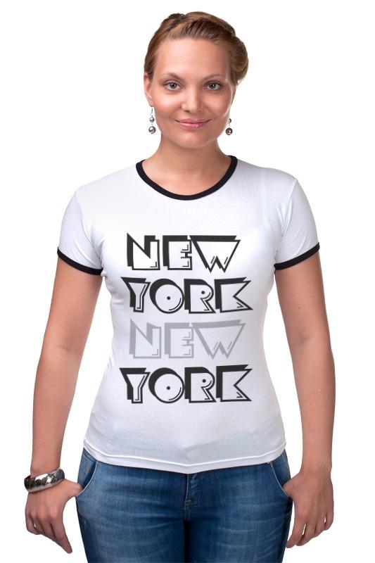 Футболка Рингер Printio New york футболка print bar new york apple
