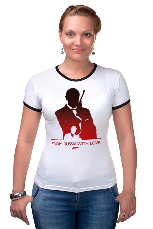 Футболка Рингер Printio 007: из россии с любовью сумка printio делай с любовью