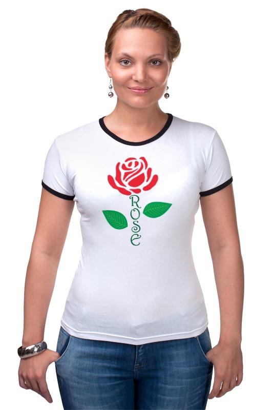 Футболка Рингер Printio Роза (rose) пламенная роза тюдоров