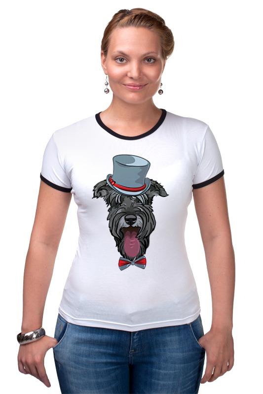 Футболка Рингер Printio Шнауцер как купить собаку в новосибирске породы ризеншнауцер без документов