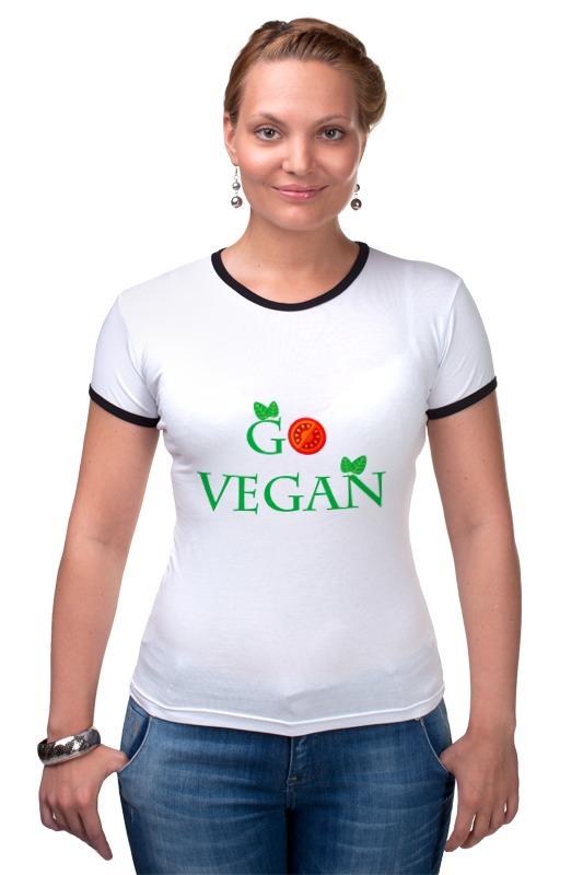 Футболка Рингер Printio Go vegan лонгслив printio go vegan