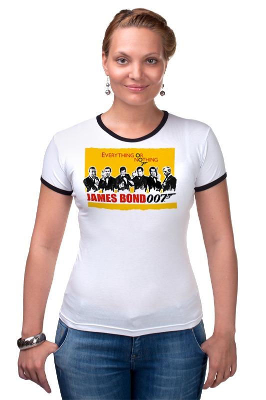 Футболка Рингер Printio James bond james bond  nobody lives for ever