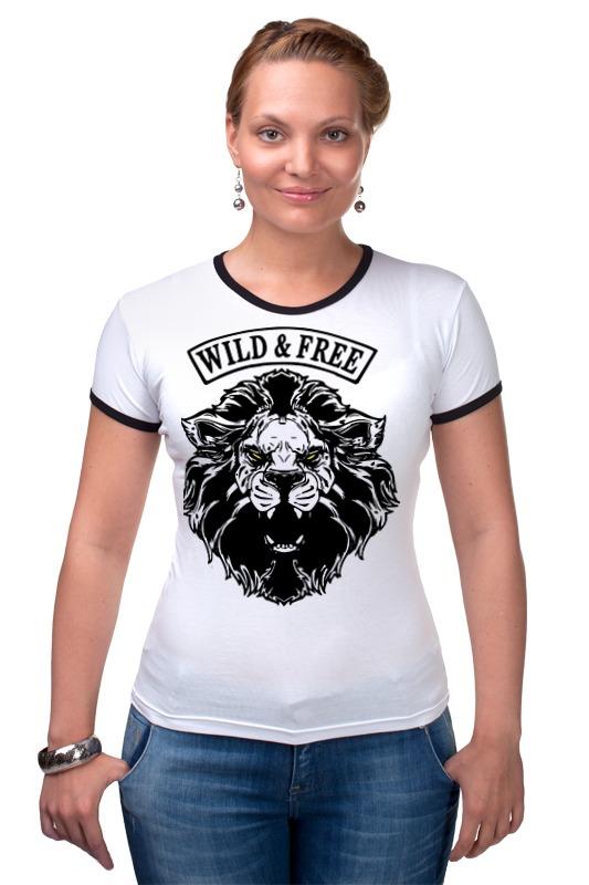 Футболка Рингер Printio Wild & free дикость 4 оргия