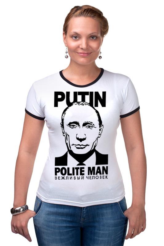 Футболка Рингер Printio Путин вежливый человек селиверстова д пер вежливый мишка