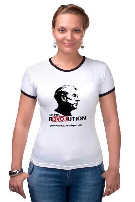 Футболка Рингер Printio Ron paul revolution paul lanjalley paul corriez histoire de la revolution du 18 mars
