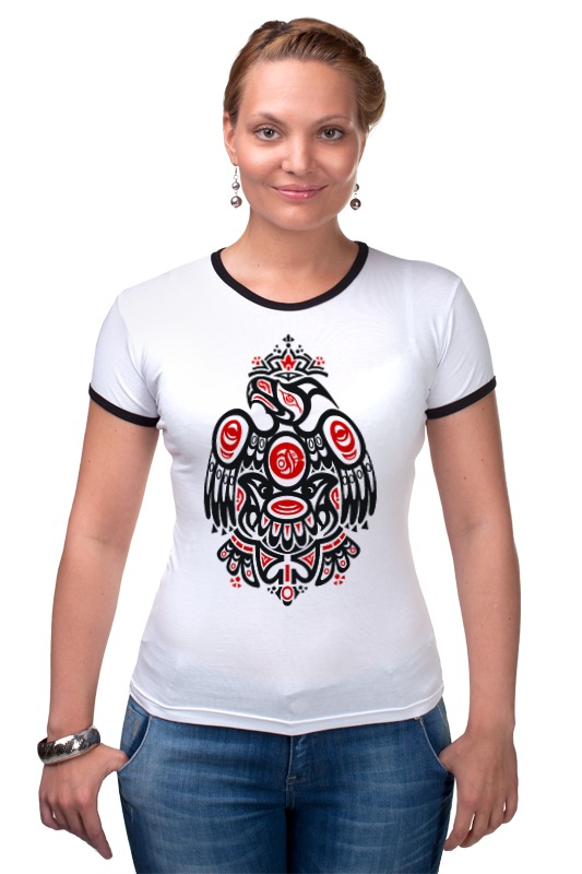 Футболка Рингер Printio Полинезийский орел футболка рингер printio полинезийский орел