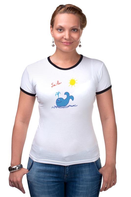 Футболка Рингер Printio Синий кит футболка для беременных printio кит ричардс