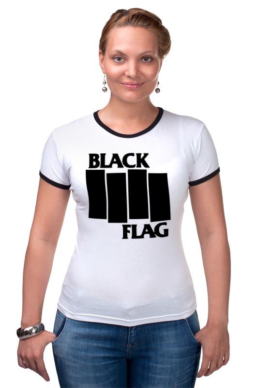 Футболка Рингер Printio Black flag сумка printio black flag