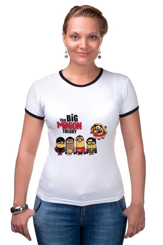 Футболка Рингер Printio Теория большого миньона серая футболка для мальчика миньона 38
