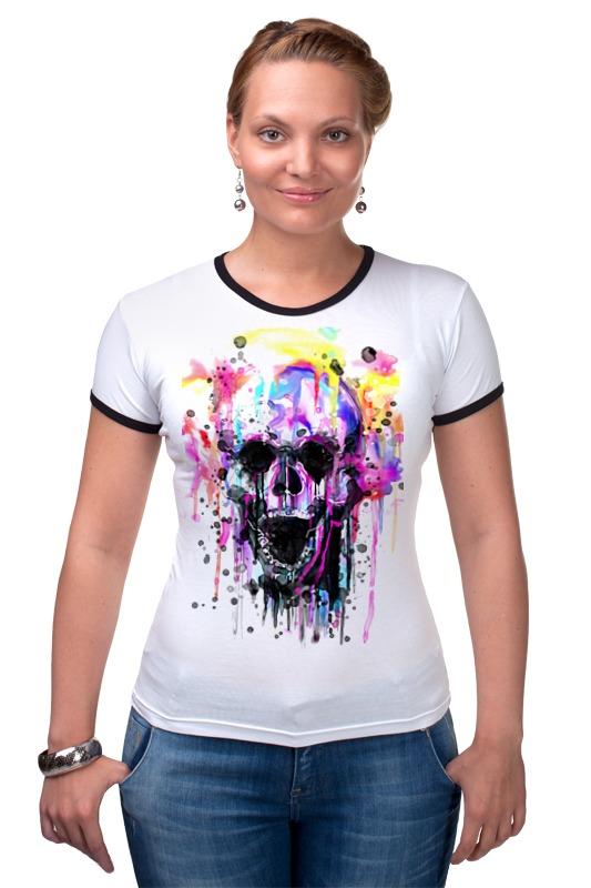 Футболка Рингер Printio Череп (краски) футболка рингер printio череп
