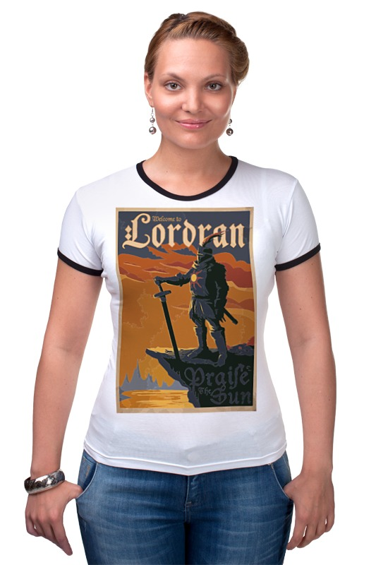 Футболка Рингер Printio Lordran poster футболка рингер printio gta 5 poster