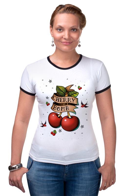 Футболка Рингер Printio Cherry bomb пуф dreambag круг cherry